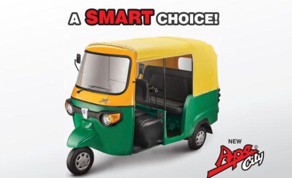 Piaggio Ape City Smart Diesel Petrol CNG LPG Auto Rickshaw Price List