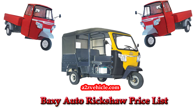 Baxy Auto Rickshaw Price List in India