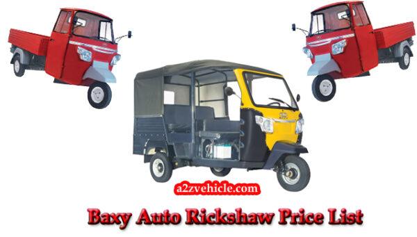 Baxy Auto Rickshaw Price List in India