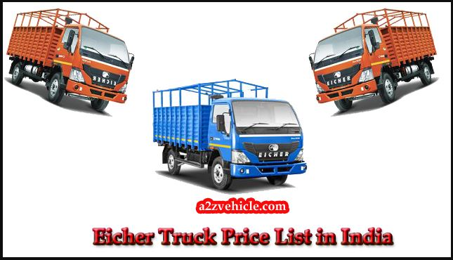 Eicher Truck All Model Price List in India