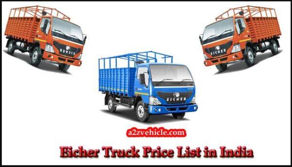 Eicher Truck All Model Price List in India