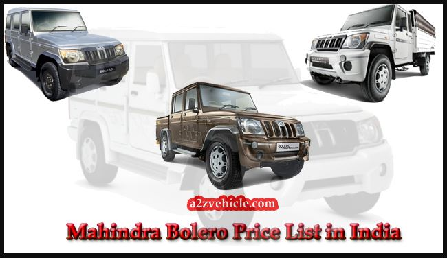 mahindra-bolero-price-list