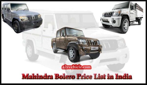 mahindra-bolero-price-list
