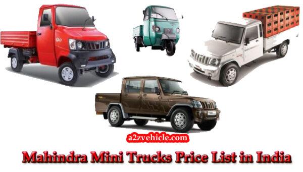 mahindra mini truck price in India 2019