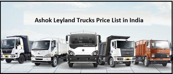 Ashok Leyland Trucks Price List in India