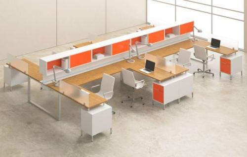 Orange cubicles