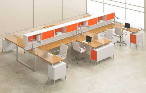 Orange cubicles