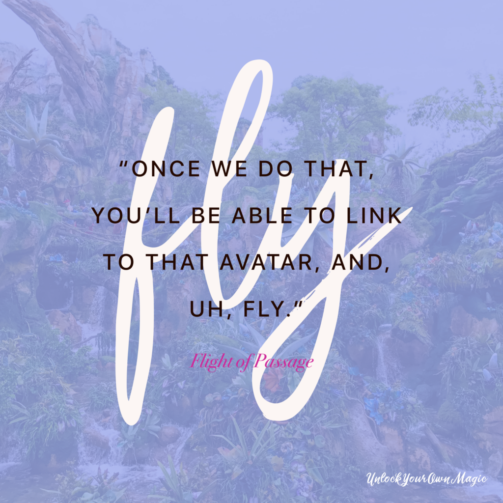 """Once we do that, you'll be able to link to that avatar, and, uh, fly."" – Flight of Passage"