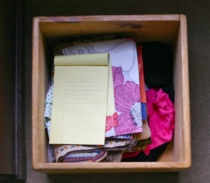 wooden box sewing