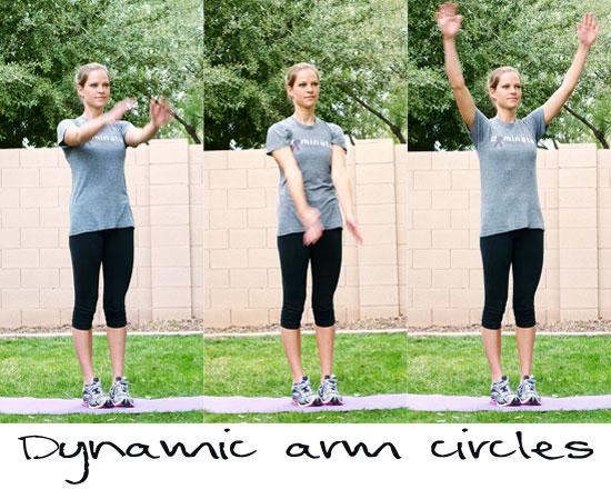 dynamic warmup arm circles