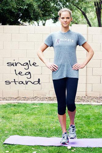core exercise single leg stand