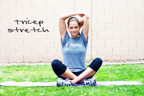 overhead tricep stretch