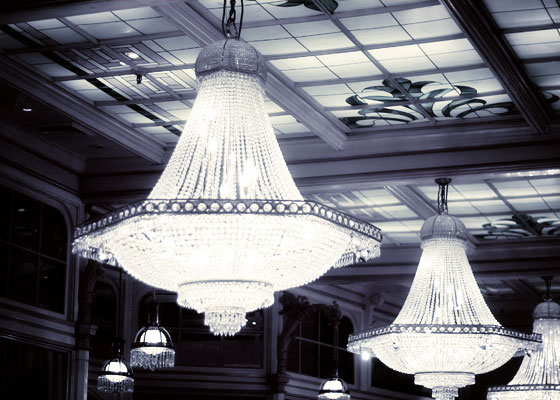 black and white chandelier