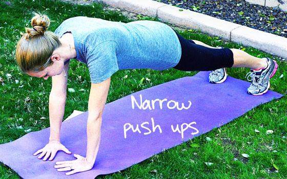 narrow pushups