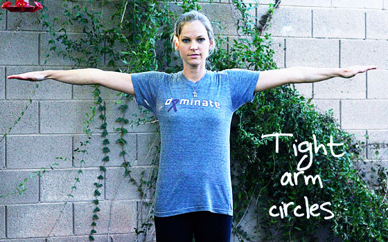 tight arm circles exercise