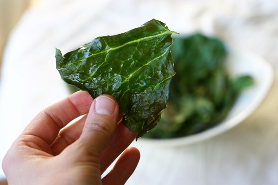 collard chips recipe