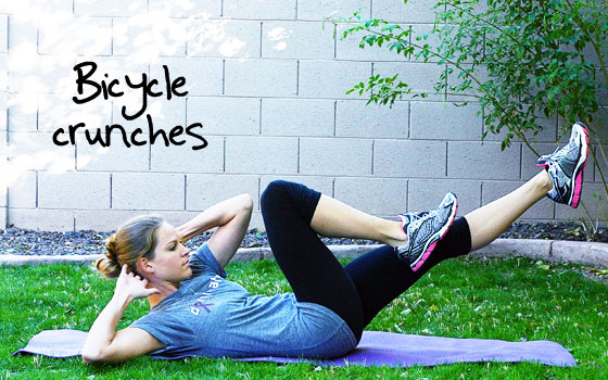 Inspired RD Exercise Library: Bicycle Crunches
