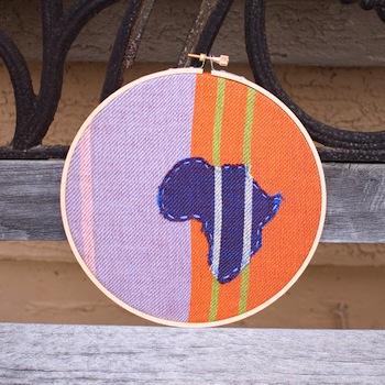 Limited Edition Africa Hoop - joemomma.etsy.com