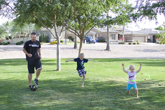 Warm weather family workouts