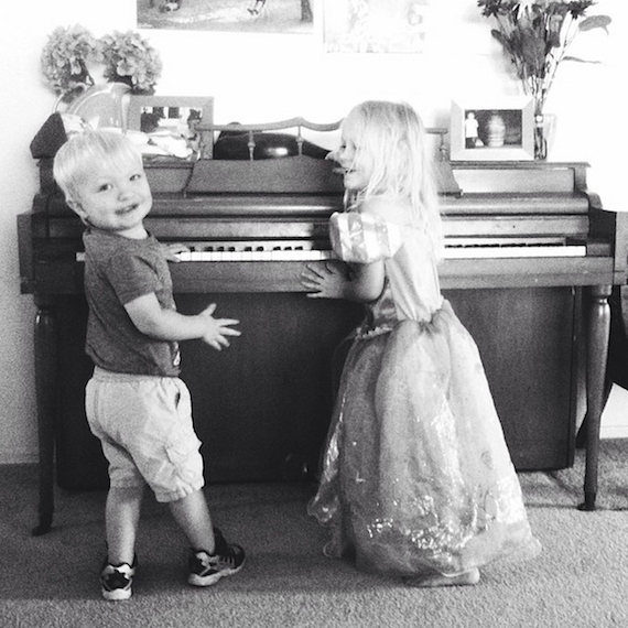 Littles at the Piano
