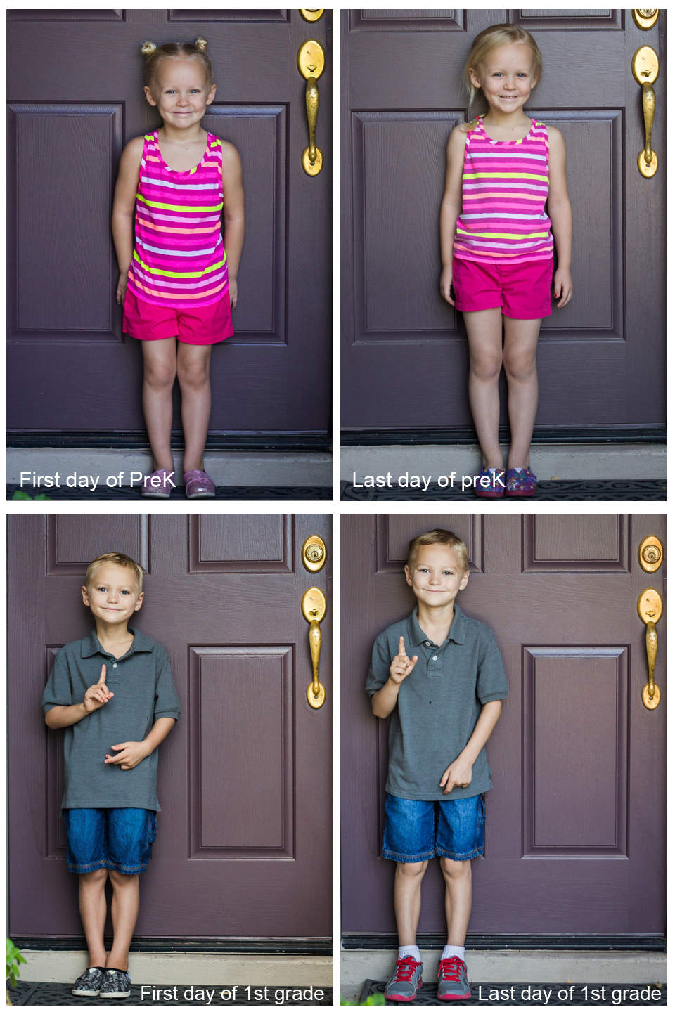 First Day and Last Day Photo Idea