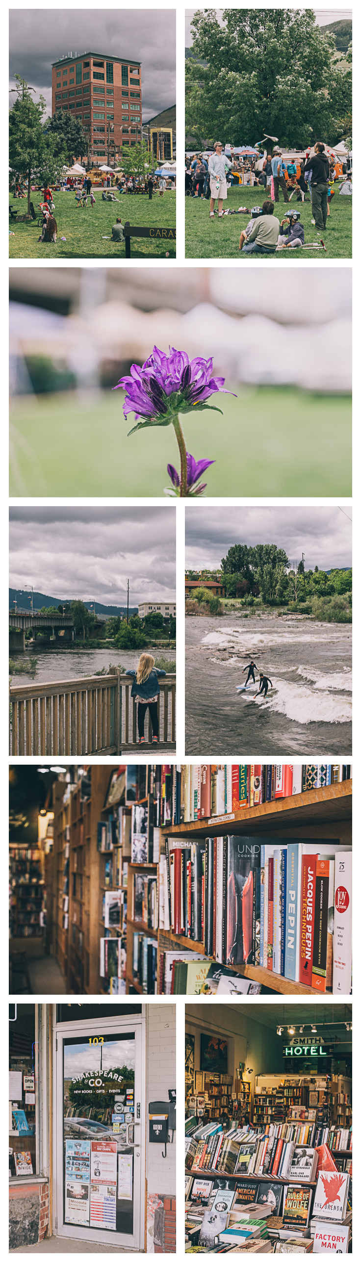 Exploring Missoula - Clark Fork Market and Shakespeare & Co.
