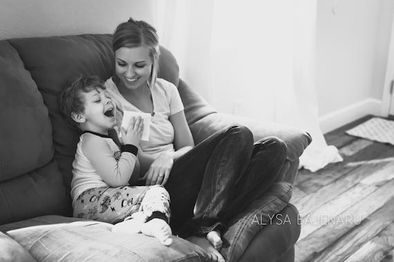 Fun Pregnancy Announcement | Alysa Bajenaru Photography