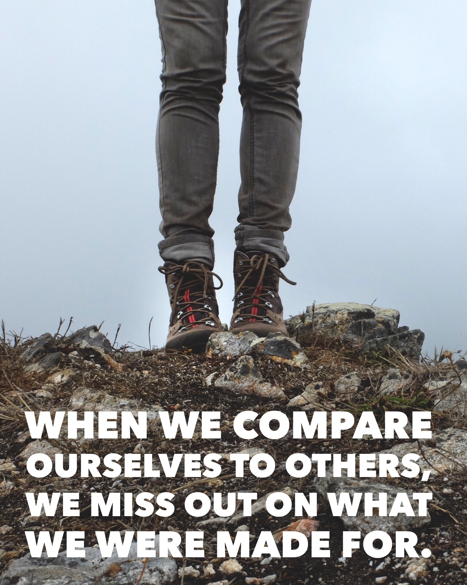 When we compare ourselves to others, we miss out on what we were made for. | InspiredRD.com