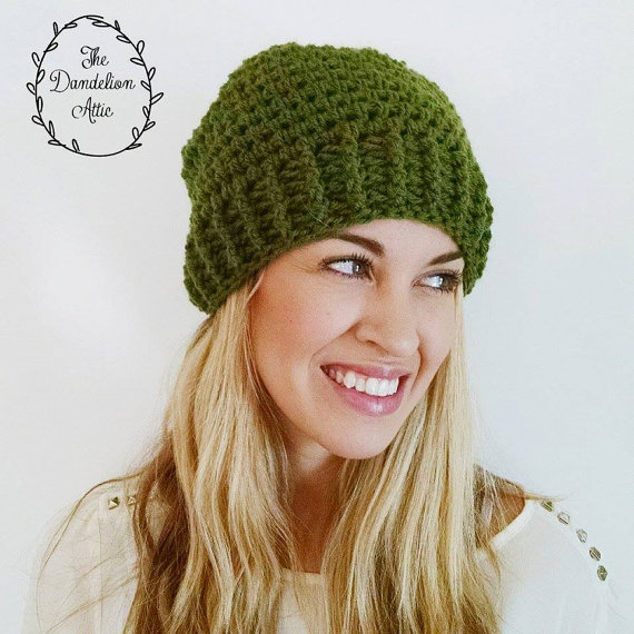 Handmade slouchy hat for only $15!
