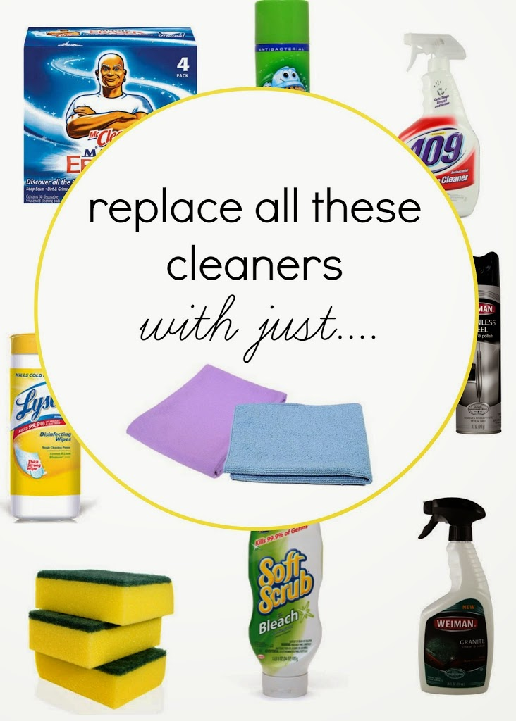 Replace all your cleansers with just two cloths!
