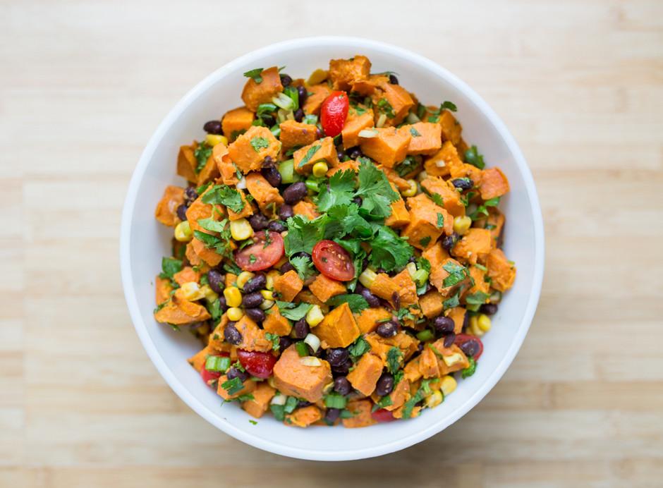 Roasted Sweet Potato Salad Inspired Rd