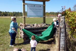 Unveiling the Margo Holt Nature Reserve sign