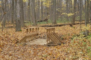 New bridge at Church Woods
