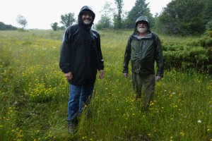 Mark and Ron at Ling Easement