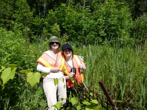 Trudy and Meagan Coughlin at the Perch Creek headwaters