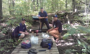 Patrick Fogarty Students Build Bridges at Grant's Woods
