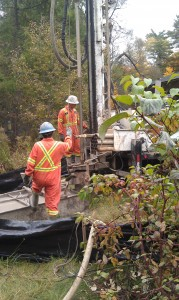 Geothermal wells are dug at Grant's Woods