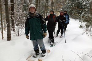 Snowshoeing at the Agnew Nature Reserve