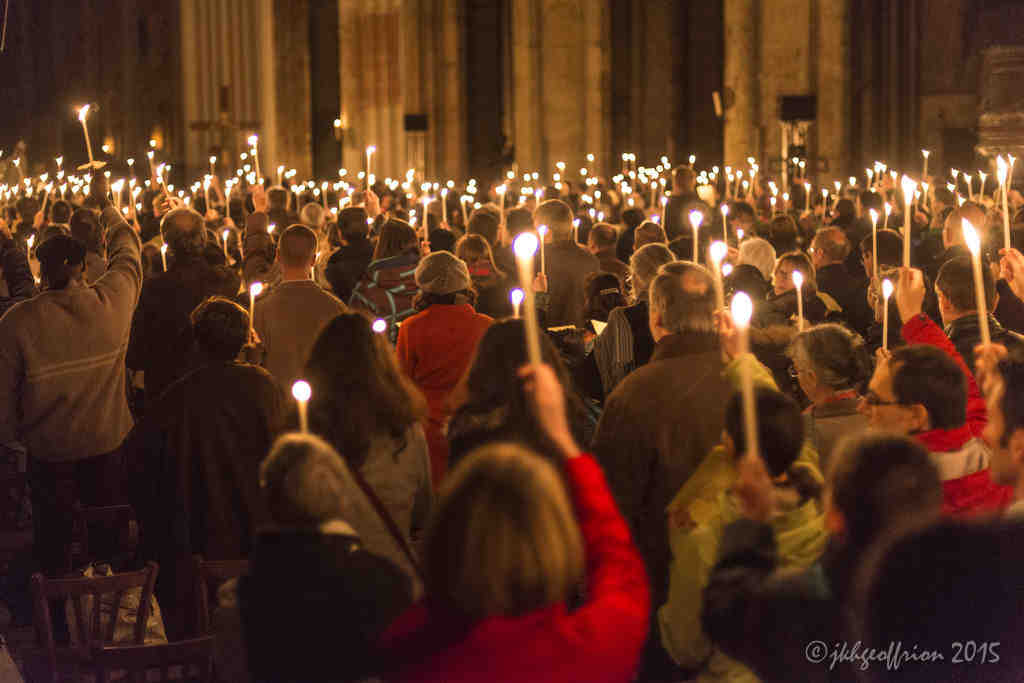 Easter Vigil in the Chartres Cathedral