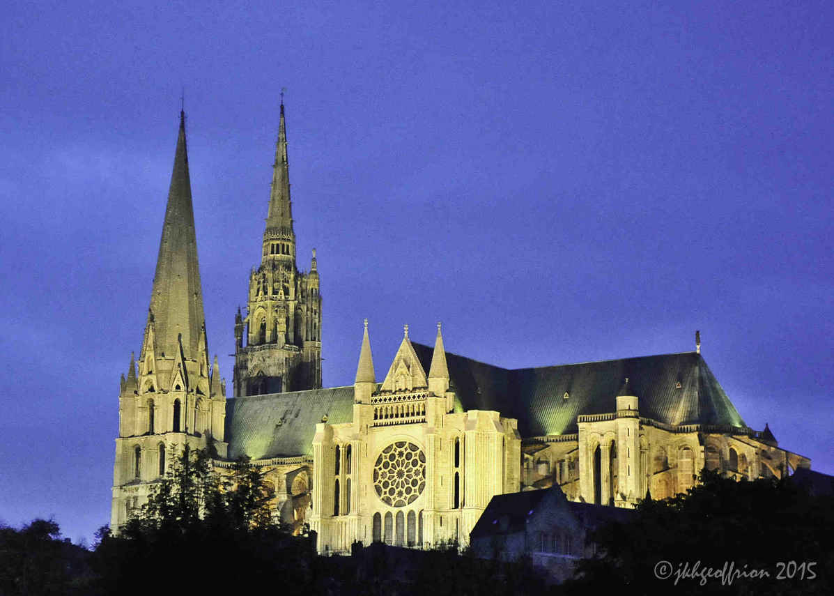 Chartres Cathedral at Dusk