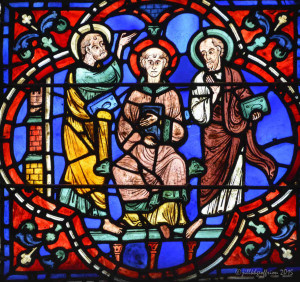 St. Stephen with two disciples by photographer Jill K H Geoffrion