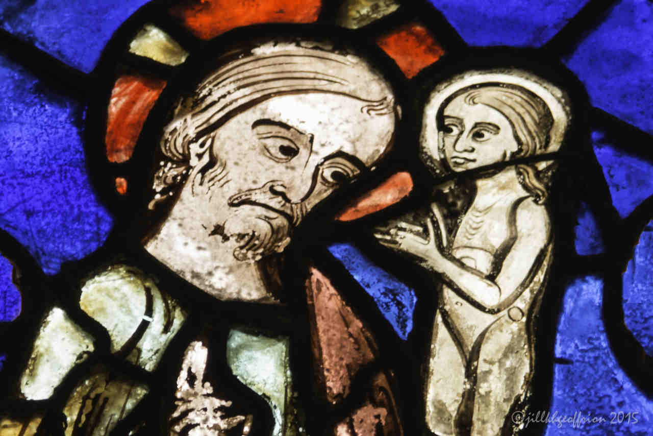 13th century Death of Mary Window