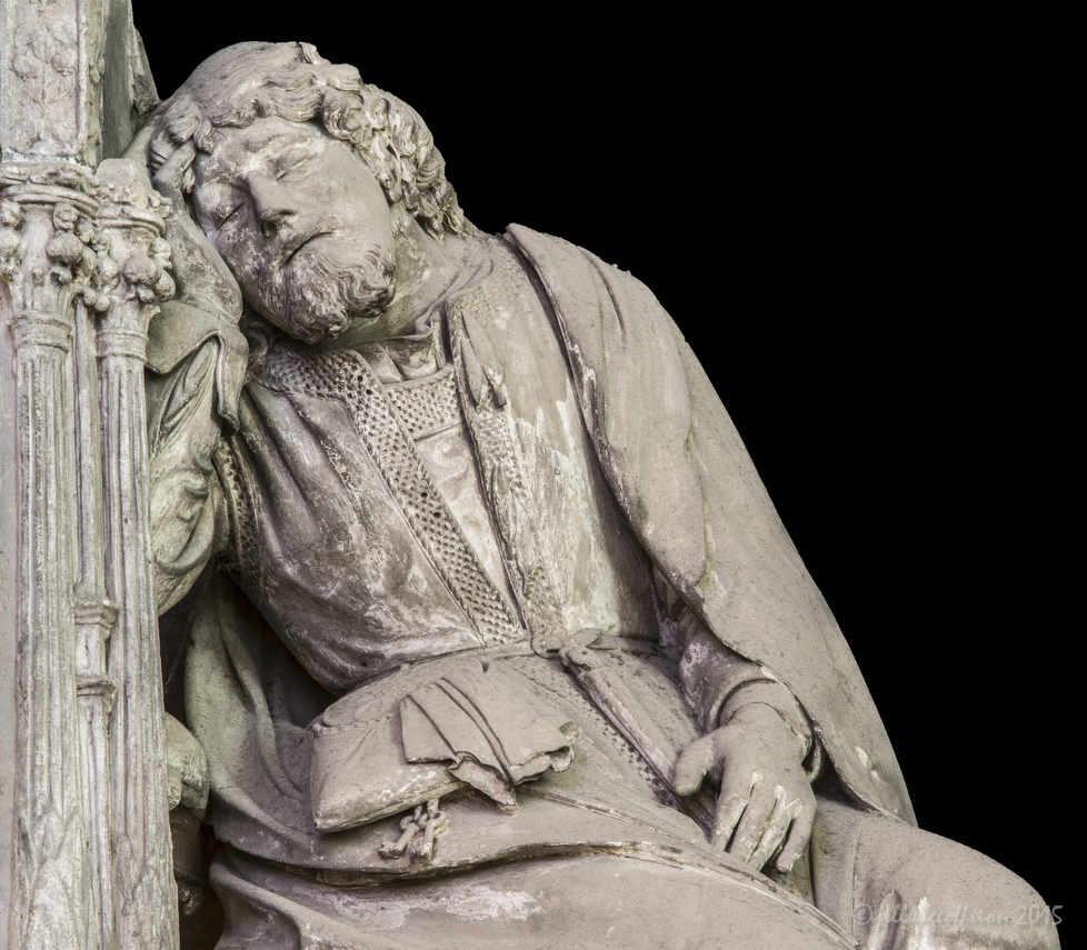 Joseph dreaming, Choir sculpture by Jill K H Geoffrion