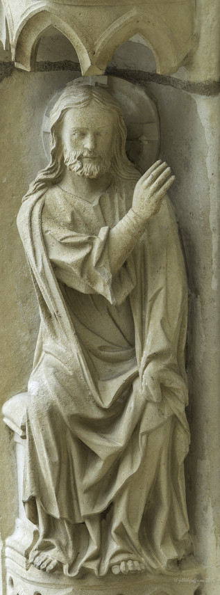 God creating the animals at Chartres Cathedral by photographer Jill K H Geoffrion