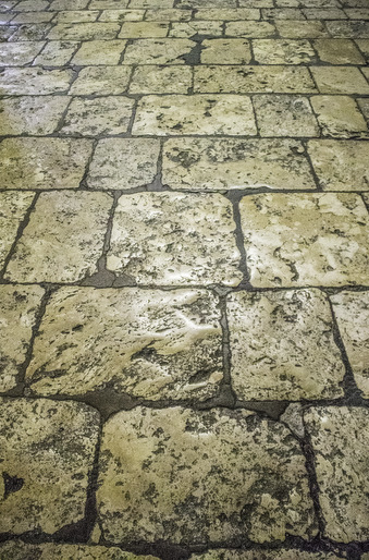 Stones in the north side aisle at Chartres Cathedral by Jill K H Geoffrion, photographer
