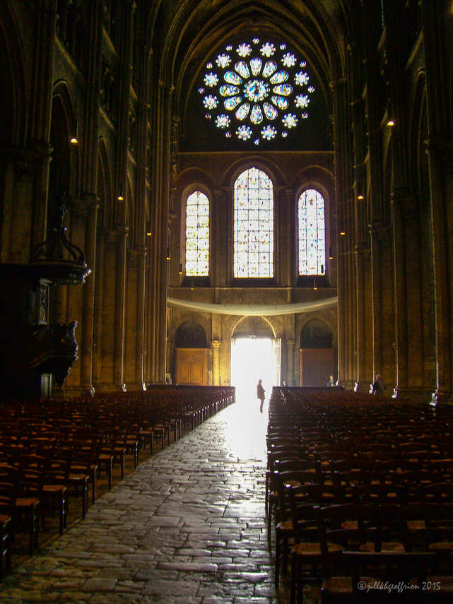 Western doors open at Chartres Cathedral by Jill K H Geoffrion, photographer