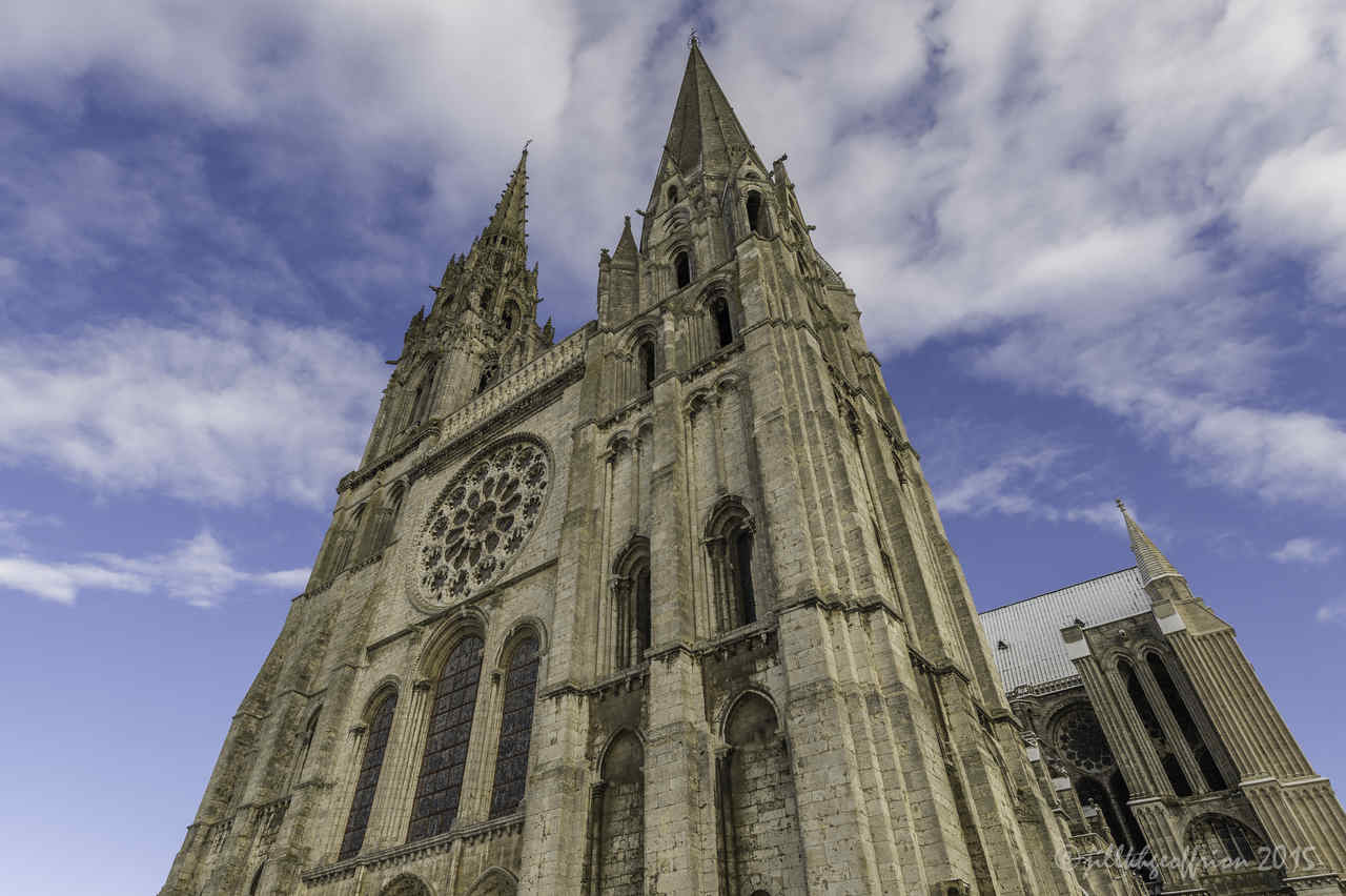 West Facade Chartres by Jill K H Geoffrion