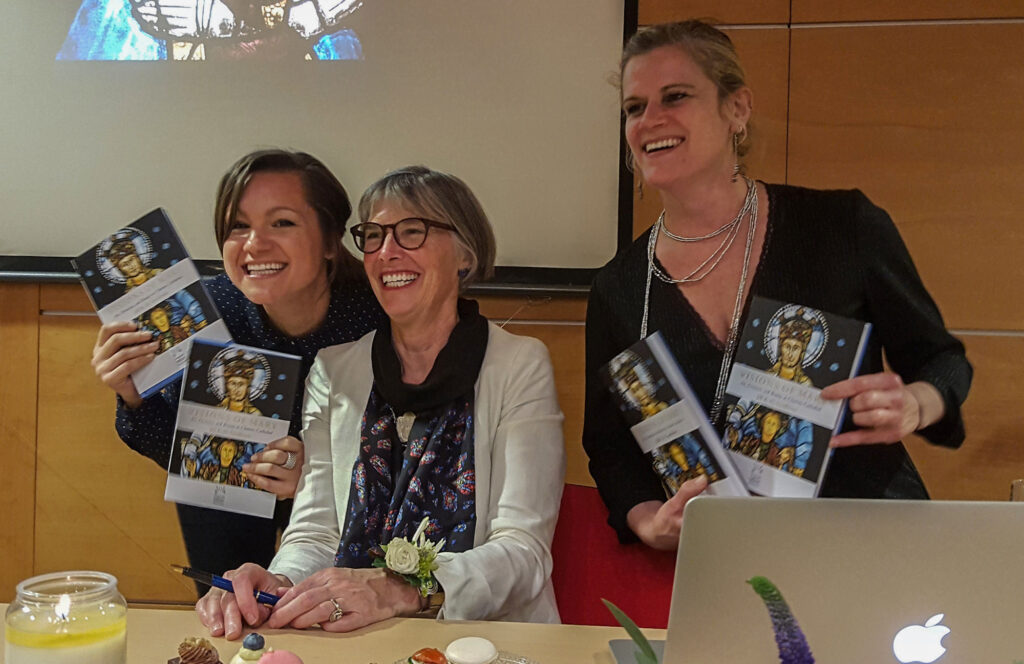 Jill at Visions of Mary Book-signing in Chartres, France