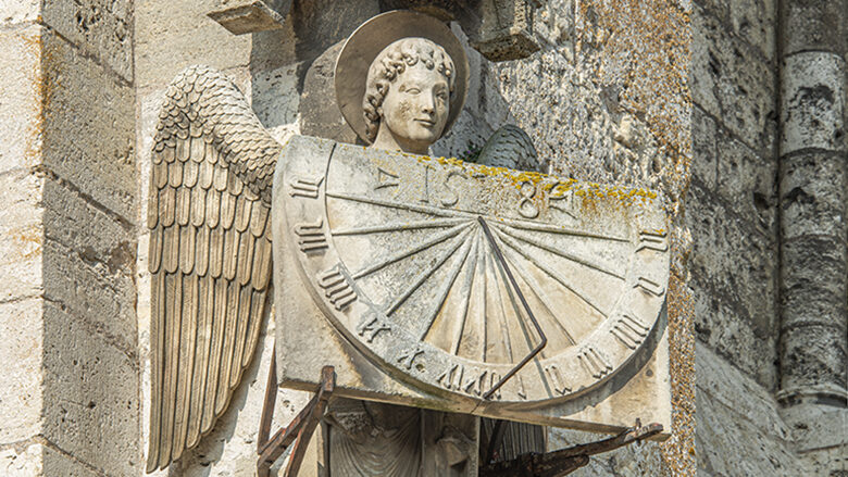 Angel of the sundial, South wall by Jill K H Geoffrion
