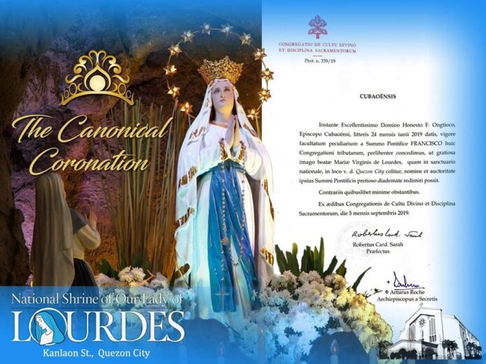 Canonical Coronation Our Lady of Lourdes QC